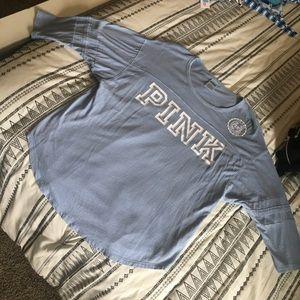 PINK Dusty Blue 3/4 Sleeve Lounge Shirt
